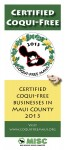 2013 coqui free buisness flyer image